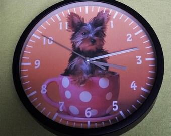 clock wall pattern yorkshire dog