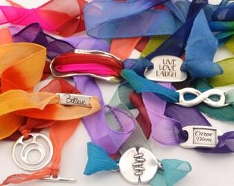 Add on silk ribbon, silk wrap bracelet, replacement silk ribbon, boho jewelry, boho wrap bracelet, women gift, choose ribbon, change ribbon