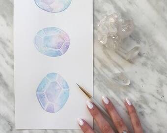 Original Opal Painting, Opal Art, Crystal Artwork, Boho Decor, Gemstone Art, Indie Decor, Boho Painting, Gemstone Painting, Crystal Painting