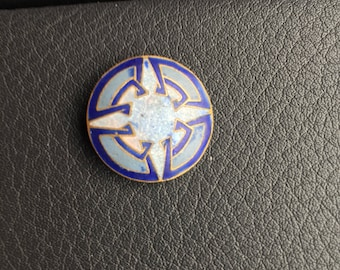Antique Medium Matte Enamel Button; 1""