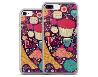 Paris iPhone Case - French iPhone Case Clear iPhone 7, 7 Plus, 6, 6s Plus, 5/5s/SE