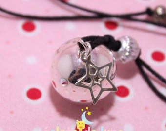 Pregnancy's Bola harmonyball genuine with Rhinestones and charm star 925 sterling silver free shipping