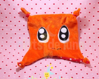 Orange with big eyes color flat Plushie to cuddle