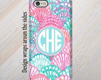 iPhone 8 Case, iPhone 7 Case, iPhone 8 Plus Case, iPhone X Case, Galaxy S8 Case, Monogram iPhone Case, Lilly Pulitzer Inspired S7 Case