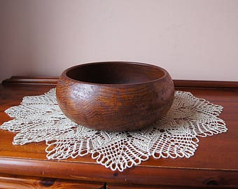 Vintage Large Wooden Bowl.