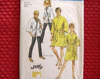 Vintage Simplicity Pattern 8256 Men's/Women's Kimono and Robe