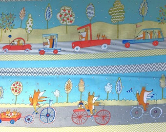 Dena Designs for freespirit - Fox Transportation Fabric from the Fox Playground collection
