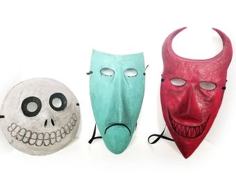 Lock, Shock, & Barrel Masks - Nightmare Before Christmas