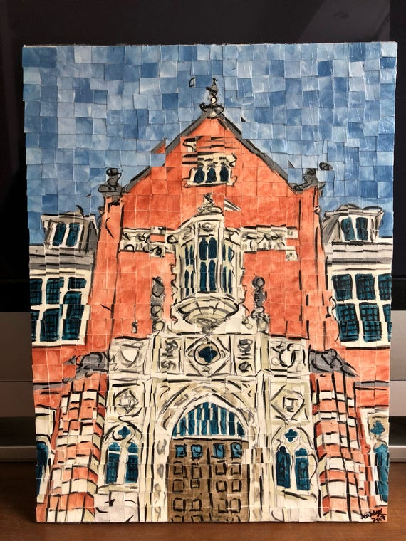 "Montgomery, Alabama - Huntingdon College - Architectural Art: 12""x16"" Original Painting"
