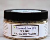 Facial Scrub - Face Scrub - Tea Tree Face Scrub - Tea Tree Oil - Skin Care - Sugar Scrub - Acne Scrub - Natural Face Scrub - Men's Skin Care