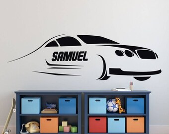 Race Car Wall Decor   Kids Personalized Motor Sports Vinyl Wall Decal  Sticker For Boyu0027s Bedroom