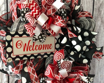 Welcome Wreath, door wreath, wall decor, gift for new home