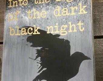 Blackbird custom wooden sign