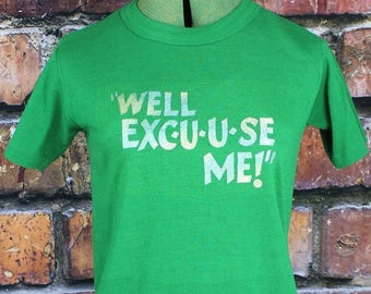Well Excuse Me Vintage 1970s Glitter T-Shirt