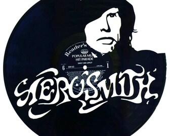Aerosmith - Steve Tyler Vinyl Record Art