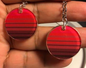 Round resin Serape earrings