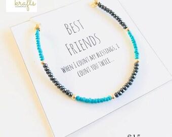 Friendship bracelet, Friend - Bestfriend gift - Amiga - Friendship gift - Best Friend gift - Best Friend  -