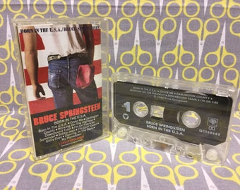 Born in the USA by Bruce Springsteen Cassette Tape rock Vintage