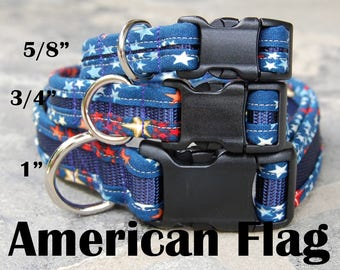 StitchPet Dog and Pet Collars - Flag