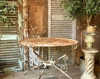 Lovely, rustic, vintage French bistro / cafe / garden table