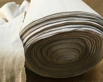 24 mtr-78.7 ft. Antique Handspun/homespun pure linen, tight weave.Crafts/Upholstery fabric