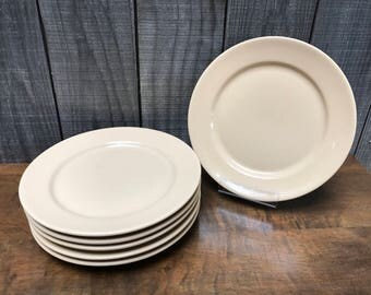"Set of 6 Tepco China USA 9.5"" Dinner Plates - Restaurant Ware"