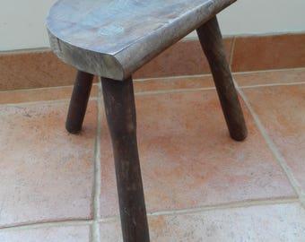 Original Rustic 3 - Legged French Milking Stool All wood construction Nursery Stool Childrenu0027s Stool circa & Milking stool | Etsy islam-shia.org
