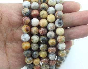 Crazy Lace Agate Beads Natural Gemstone Beads Round Beads Agate beads  Full Strand Wholesale Gemstones -15-16 inches-EB344