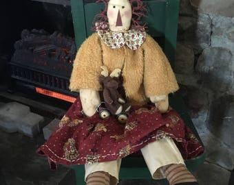 Primative Raggedy Ann doll