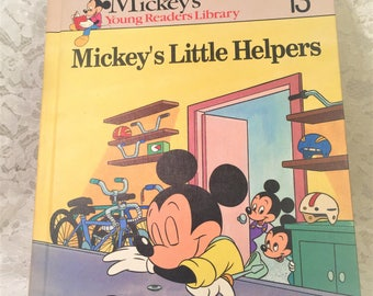 Mickey's Little Helpers, A Walt Disney Book for Young Readers, Volume 13 Mickey's Young Readers Library, First Edition.