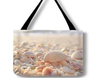 Weekend Bag-Large Tote Bag-Beach Bag-Shell Tote-Seashell Tote-Canvas Tote-Shoulder Tote Bag-Carry All Bag-Boat Bag-Pool Bag