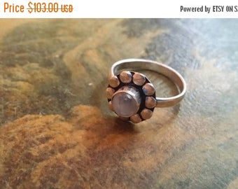 Holiday SALE 85 % OFF Moonstone  Size 8 3/4 Ring Gemstone. 925 Sterling  Silver