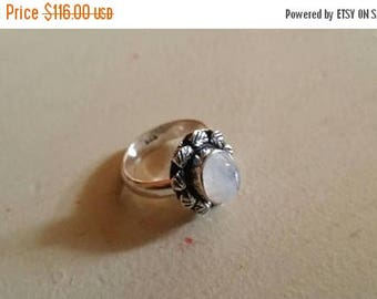 Holiday SALE 85 % OFF Moonstone  Size 7 Ring Gemstone. 925 Sterling  Silver Tribal Ethnic