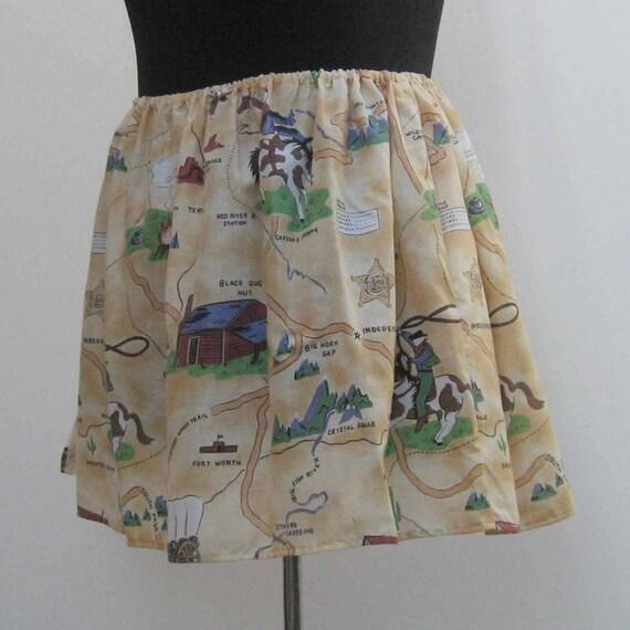 cowboy skirt plus size skirt mini skirt cowgirl skirt