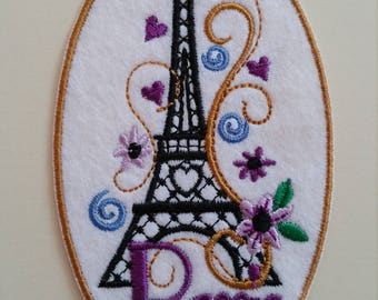 Eiffel Tower iron on or sew on patch Paris iron on patch Paris applique Paris sew on patchEiffel Tower appliqueFrance patchTour Eiffel patch