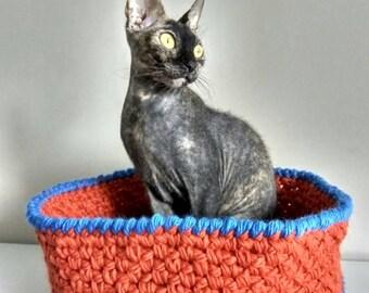 Cat bed, cat cave, pet bed, pet furniture, crochet cat bed, bed for cat, crochet bed for sphynx, bed for sphynx, crochet pet bed, sphynx bed