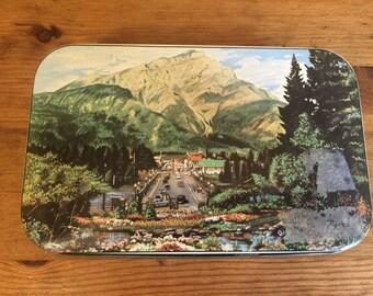 Landscape Scene Tin Container