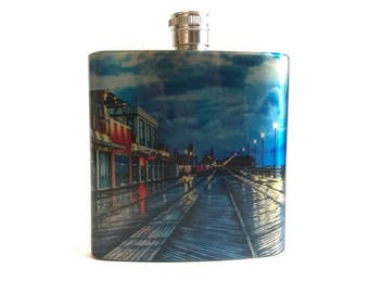 Asbury Park New Jersey Beach Gift Flask / Jersey Shore Gift / Asbury Park Wedding Favors / Asbury Park Beach