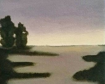 Marsh Sunset - Oil Painting