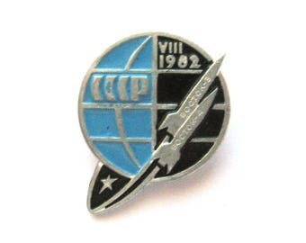 Vostok 3, Vostok 4, Badge, Space, Rocket, Cosmos, 1962, Rare Soviet Vintage metal collectible pin, Made in USSR, 1960s