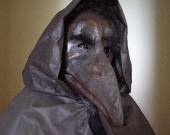 Masquerade mask Plague doctor mask Paper mache mask Scary mask Halloween mask Bird mask Crow mask Raven mask