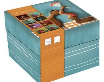 Security blankets match box 9 cards + 10 envelopes