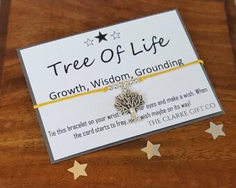 Tree of Life Bracelet - Family Tree - Wish bracelet - Friendship bracelet - Tree of Life