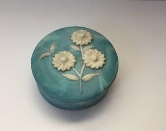 Blue Soapstone Jewelry Box. Design Gifts International USA