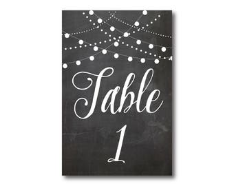 Wedding Table Numbers, Rustic Table Numbers, Printed Table Numbers, Wedding Table Numbers, Table Number Sign, Reception Table Numbers #CL103