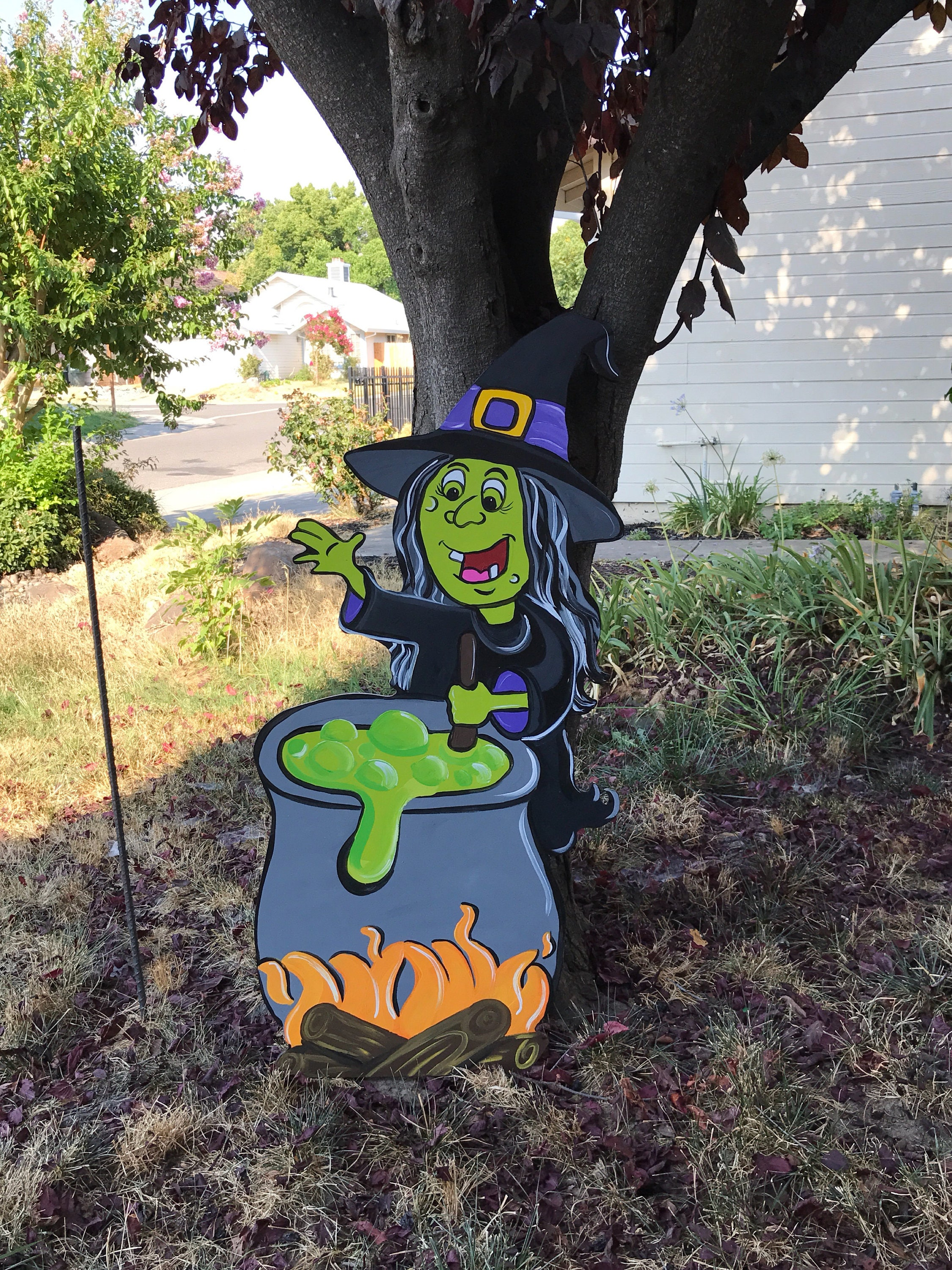 Wooden halloween yard decorations -  Zoom