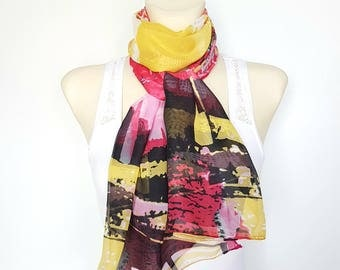 Pink Scarf Women Yellow Scarf Women Scarf Handmade Scarves Women Gifts for Wife Gift for Women Valentine's gift Valentines Day Gift for Her