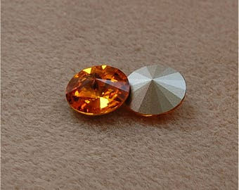 SWAROVSKI Rivoli's, 14mm, Topaz, sold as a unit of 2 pieces.