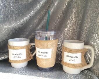 Coffee sleeve, mug cozy, personalized mug