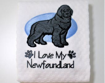 "Newfoundland Dog, Newfoundland Towel, Newfoundland Owner Gift, Dish Towel, Kitchen Towel, Dog Lover Gift, Newfoundland Decor  ""Gentle"""